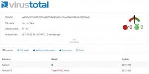 Upload to Virus Total.