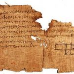 One of the oldest surviving fragments of Euclid's Elements..