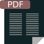 PDF document symbol.