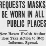 Newspaper clip from 1918 describing the influenza pandemic.
