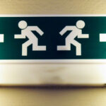 Emergency exit sign. © 2013 by Joanna Pianka.